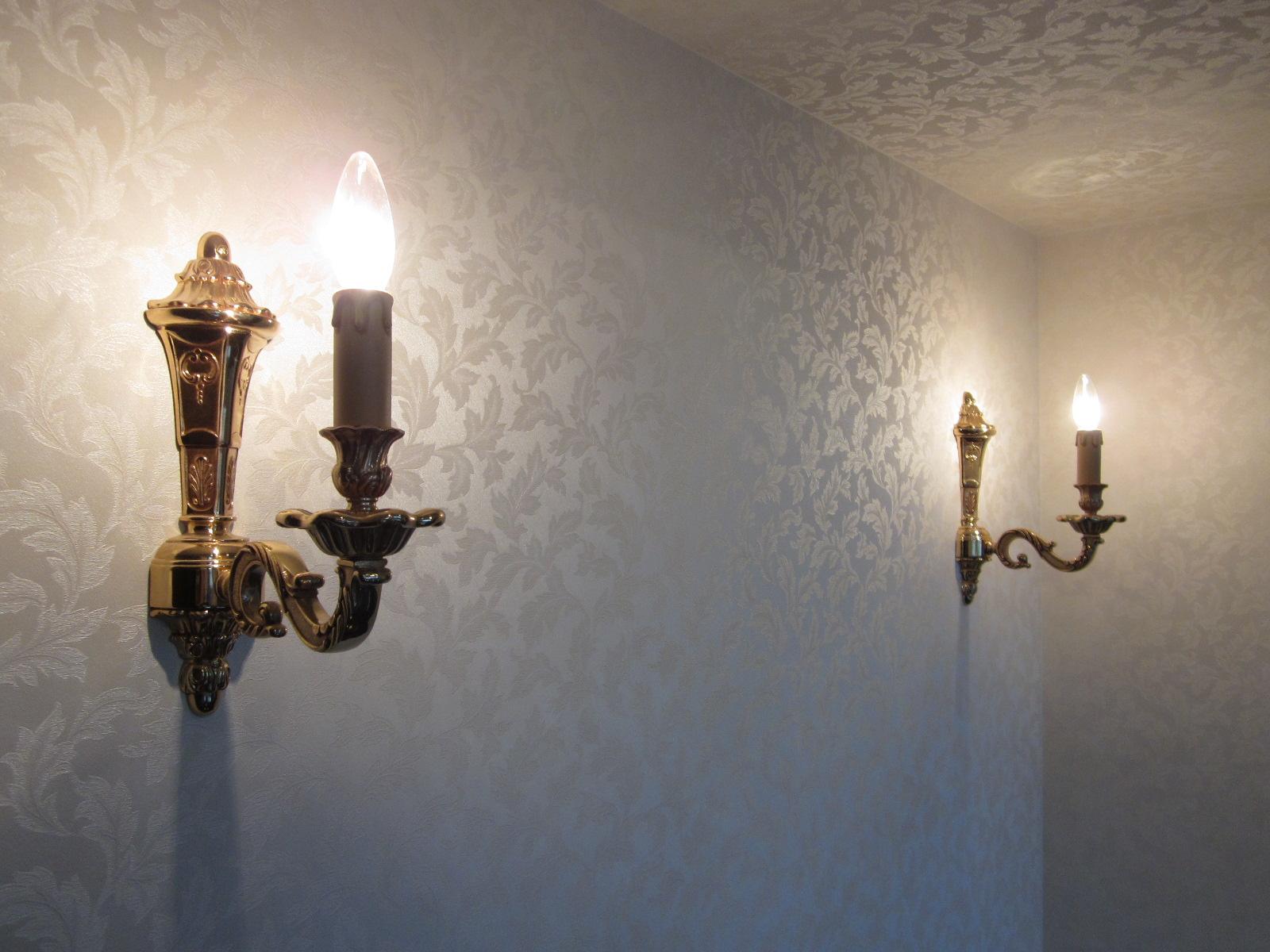 蝋燭デザインの照明