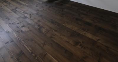 施工例①無垢の床フローリング
